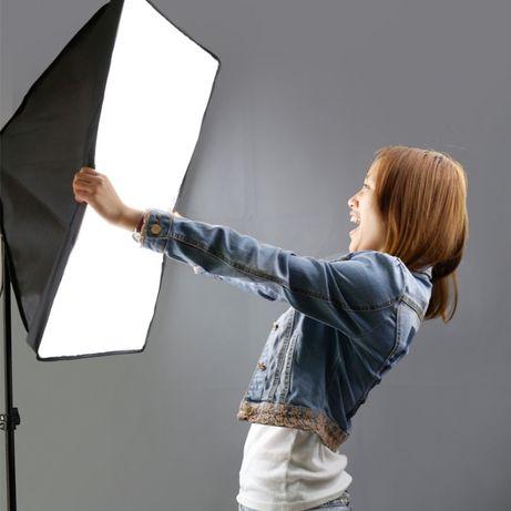 Софтбокс 50х70 + стойка 2 м студийный свет Softbox предметная съемка