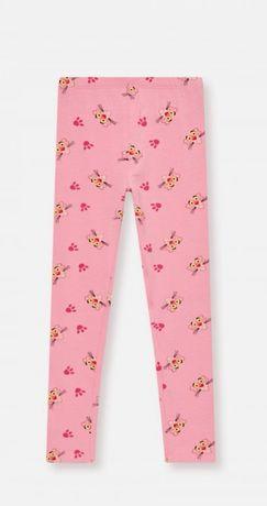 Reserved 98 jak nowe legginsy spodnie Różowa Pantera