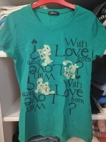 Koszulka Damska zielona