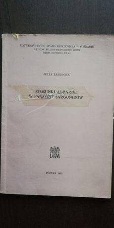 Stosunki agrarne w państwie Sargonidów - J. Zabłocka