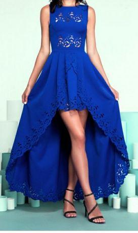Вечернее платье / платье с перфорацией / платье со шлейфом