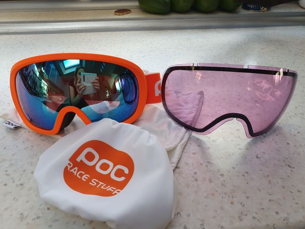Gogle POC FOVEA MID CLARITY COMP orange/spectris blue 2 szyby s1 i S2