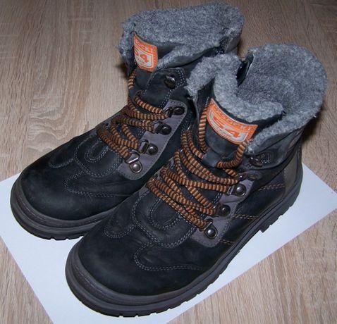 Skórzane buty trapery zimowe Lasocki 36 wkładka 22,5