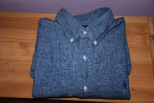 ralph lauren meska koszula jeansowa