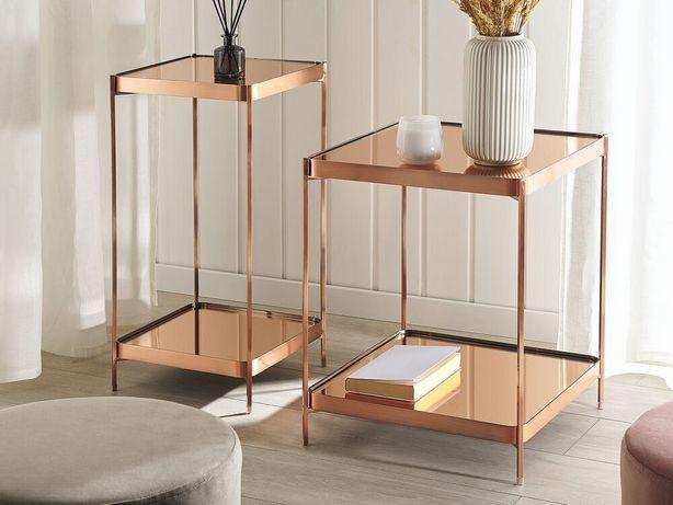 Mesa de apoio cor cobre 29 x 29 cm ALSEA - Beliani