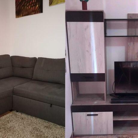 Sofá -cama e Movel tv em óptimo estado
