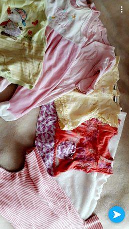 Bluzeczki i śpiochy dla dziewczynki