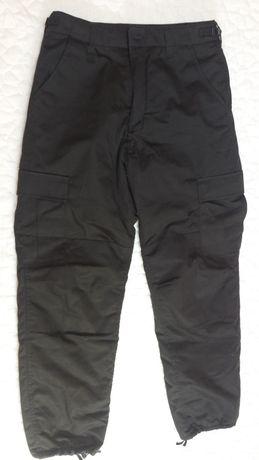 Wojskowe spodnie termiczne BDU Czarne S taktyczne militarne