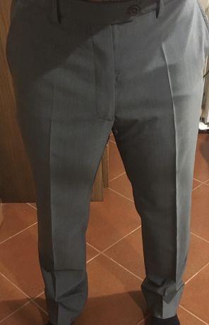 Calças de Fato Armani 42 cinzentas claras