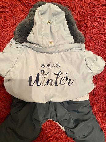 Зимний комбинезон жилетка попона pet fashion