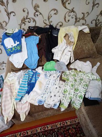 Пакет вещей на мальчика 0-3,4,5 месяцев