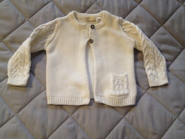 Sweterek r 62-68 Lupilu Jak NOWY (2-6 m-cy) rozpinany CHRZEST