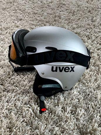 Kask narciarski i gogle UVEX