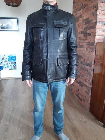 Новая кожаная куртка мужская 48 размер