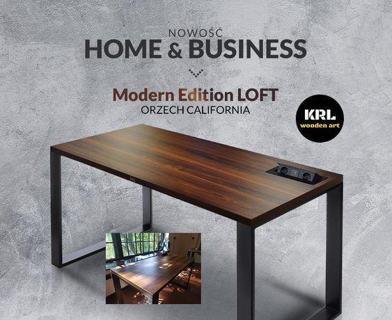Biurko modern edition styl loft elektryczna regulacja dom biuro gaming