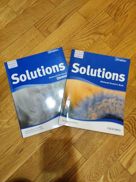 Підручник + Зошит з англійської мови Solutions Advanced