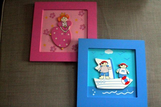 Obrazki - obrazy na ścianę dla dziewczynki i chłopaka