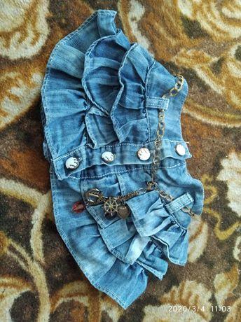 Продам джинсовую юпку на девочку