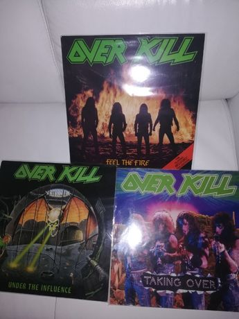 пластинки OVERKILL 1985, 1987 , 1988г