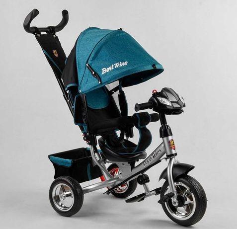 Детский трёхколёсный велосипед, непробиваемые EVA колёса, ровер