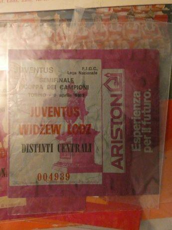Bilet Juventus - Widzew z 1983 roku