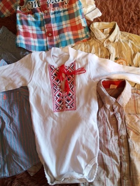 Рубашки для мальчика 12-24 мес