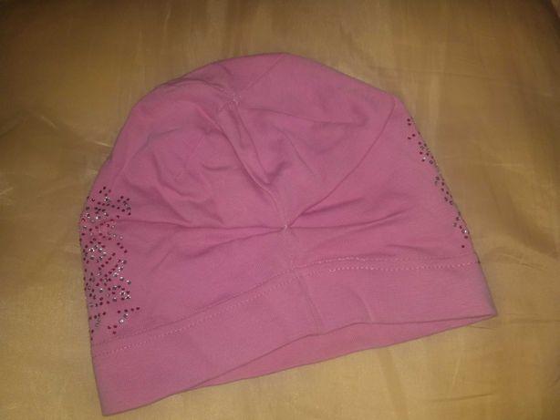 Шапочка рожева з блискітками.