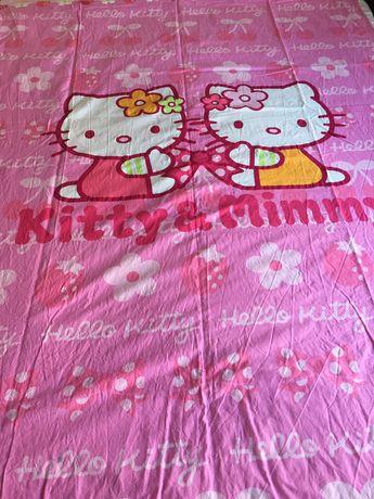 Capa de édredon, lençol de baixo e fronha da Hello Kitty