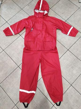 Przeciwdeszczowy nieprzemakalny komplet kurtka spodnie wodoodporne 122