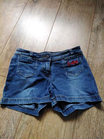 Spodenki, szorty ESPRIT jeans 140 cm + koszulka HM