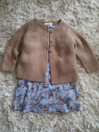 Sweterek Zara, sukienka Next 116