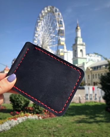 Кожаный зажим для денег,кошелек,портмоне ручной работы t.d.family !
