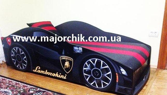 Кровать машинка Ламбор Феррари БМВ кровать машина с матрасом + ПОДАРОК