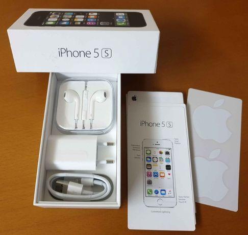 Caixa iPhone 5 S / 32 GB + Cabo + Carregador + Auricular Jack 3.5 mm