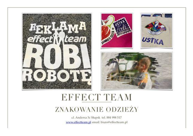 Znakowanie odzieży koszulki reklama wydruk drukarnia banery bilbordy