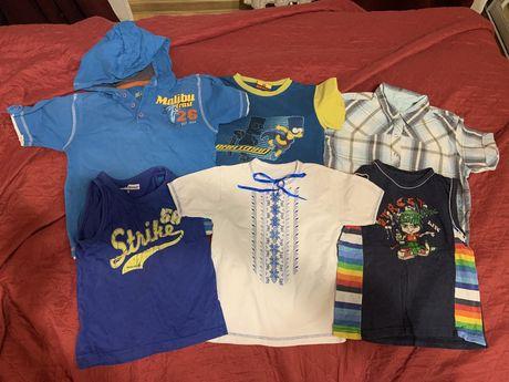 Футболки, майки, рубашка одним лотом за 130 грн, размер 104-110