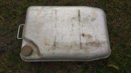 Алюминиевая плоская лодочная канистра СССР 30л, латунная крышка
