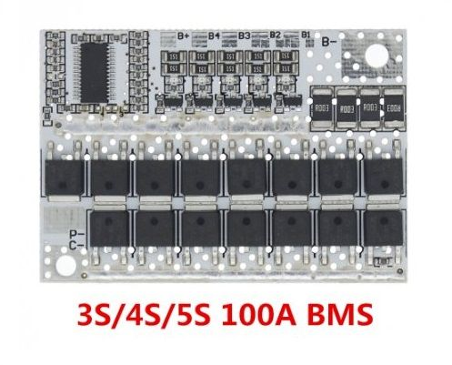 bms 5S/4S/3S Li-ion 18650 21V плата балансировки и заряда
