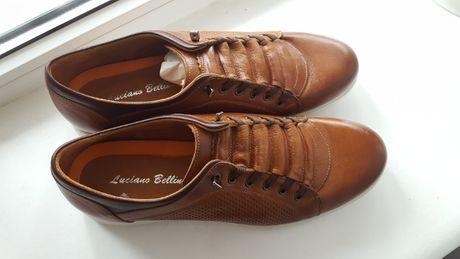 Спортивные туфли (лоферы) мужские Luciano Bellini, натур. кожа