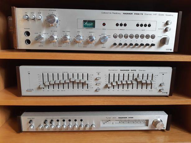 Zestaw Radmor 5102-TE Radmor 5470  5122 amplituner vintage unitra