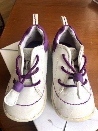 Легкие, полностью кожаные ботиночки Ecco, размер 22, 14 см