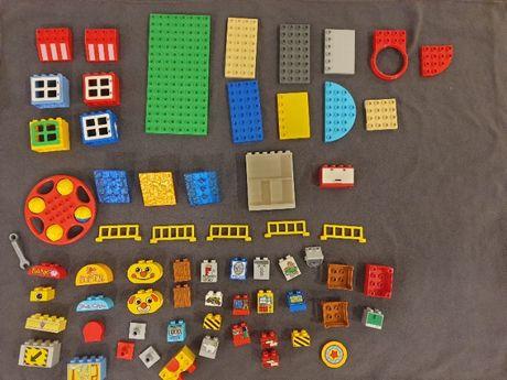 Klocki Lego Duplo płytki okna dużo elementów niestandardowych