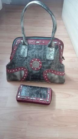 Zestaw torebka z portfelem Ricarda M.