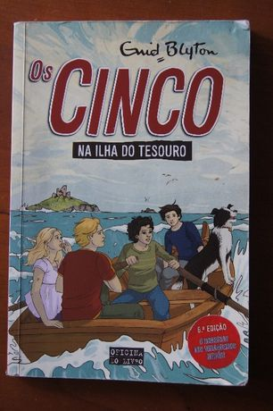 "Livro OS CINCO ""Na Ilha do Tesouro"""