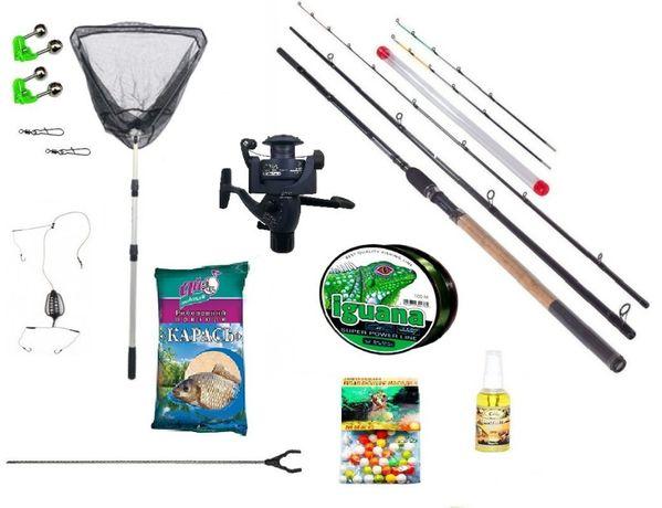 Рыболовный набор Фидерное удилище Kaida+ катушка Кобра+Подарок!