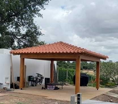 telheiro de madeira -  Madeira&Conforto