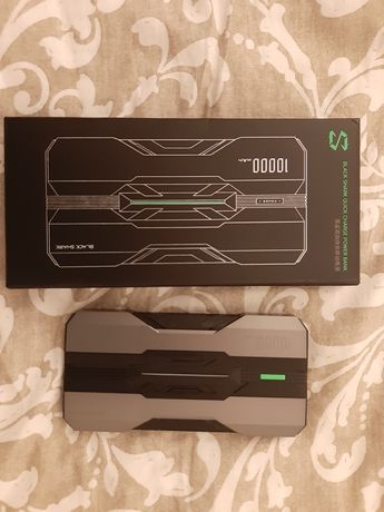 Powerbank black shark fast charge 2 usb 10000 xiaomi carregador portat