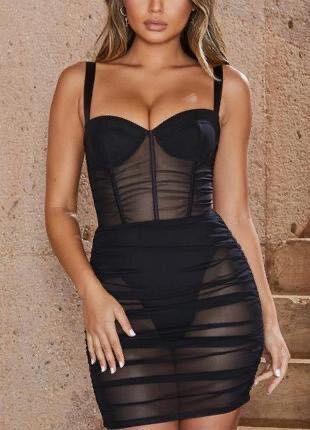 Черное платье боди от Oh Polly, оно просто бомба !