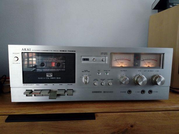 Magnetofon Akai GXC-709 D,wzmacniacz,tuner.