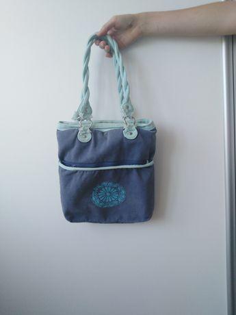 Niebieska torebka damska